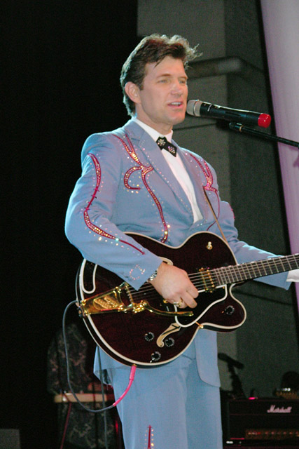 Chris Isaak performing solo.