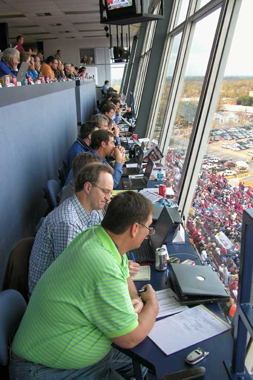 Media covering the Independence Bowl