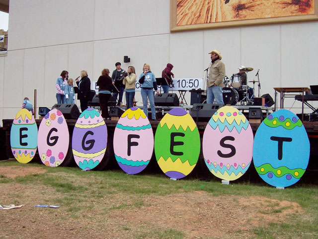 This is a picture of the Eggfest 2007 stage