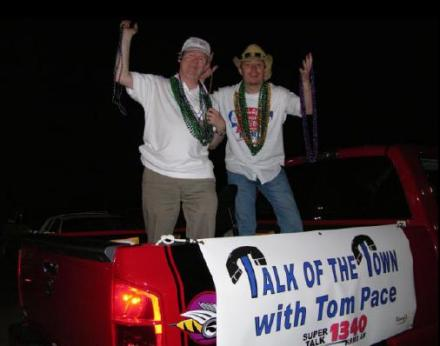 Tom Pace & Trooper Jay in the Krewe of Aesclapeus Parade